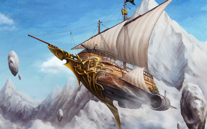 pirate-ship-steampunk-wallpaper